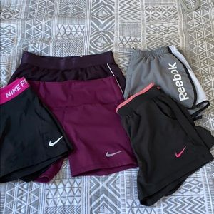 Lot of women's S/M athletic shorts